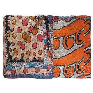 Rug & Relic Vintage Dots & Floral Kantha Quilt