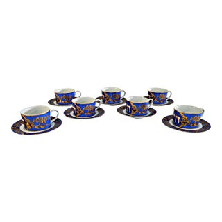Jewish Celebrations Motif Cup & Saucers - Set of 14