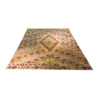 Bellwether Rugs Distressed Vintage Turkish Zeki Muren Rug - 7' x 9'11""