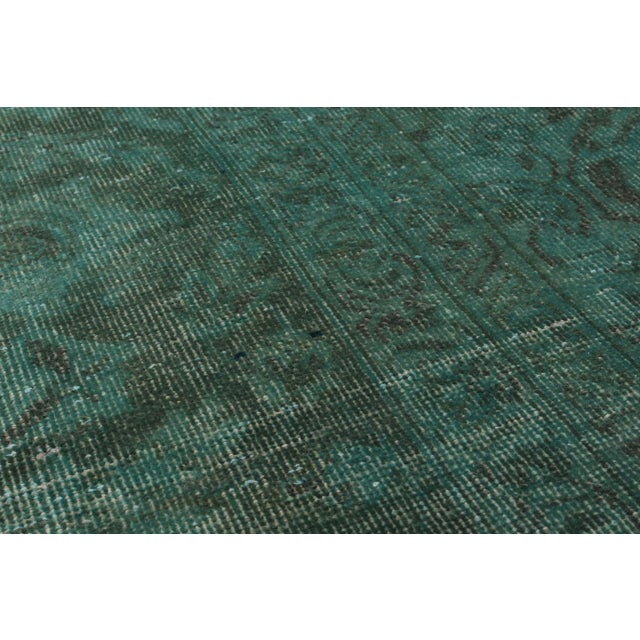 """Green Vintage Persian Overdyed Rug - 9'5"""" X 12'8"""" - Image 2 of 2"""