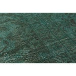 "Image of Green Vintage Persian Overdyed Rug - 9'5"" X 12'8"""