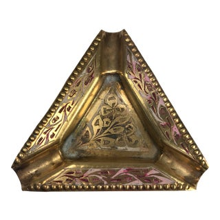 Solid Brass Indian Ashtray
