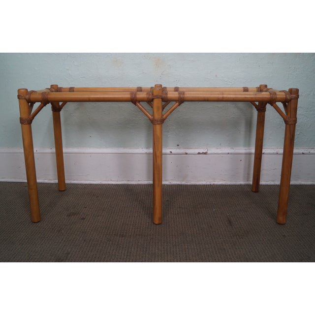 Vintage Faux Bamboo Console Table - Image 4 of 10
