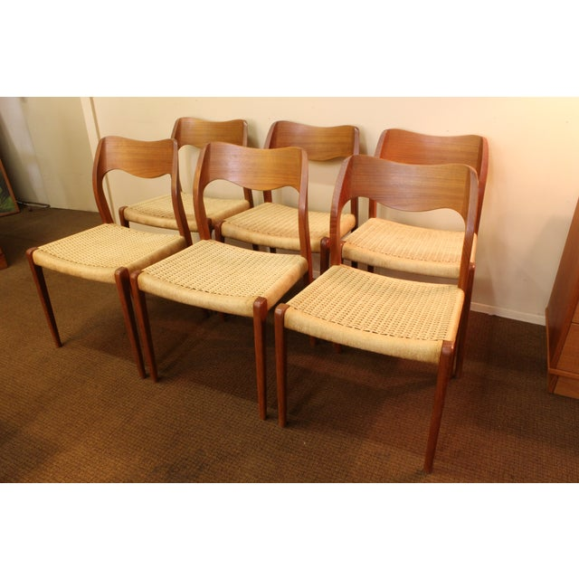 Moller Model 71 Teak Dining Chairs - Set of 6 - Image 2 of 11