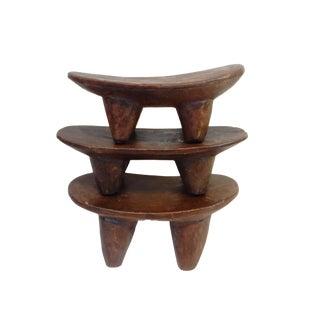 Senufo Wood Kids Milk Stools - Set of 3