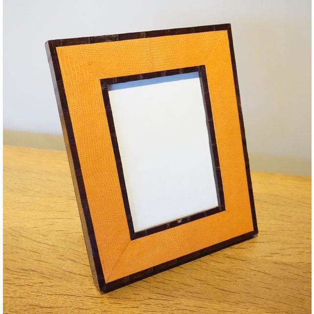 Image of Handcrafted Orange Photo Frame
