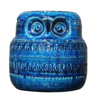 Rosenthal Netter Bitossi Pottery Rimini Blue Owl
