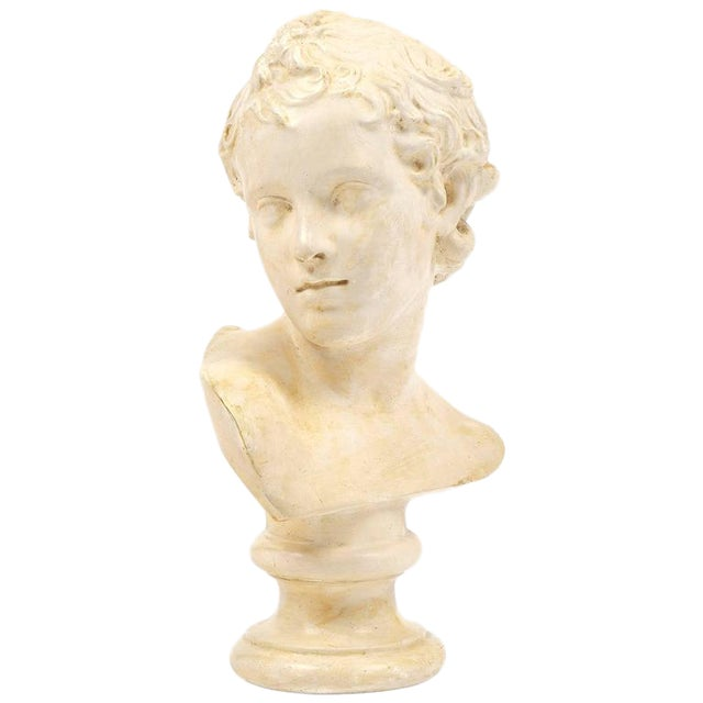 Antique French Plaster Child Bust - Image 1 of 9