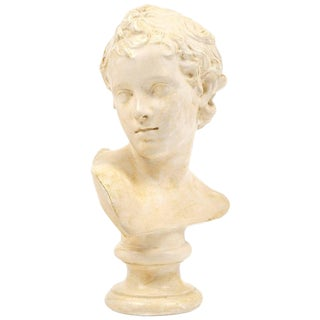 Antique French Plaster Child Bust