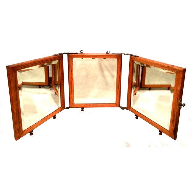 Antique Aesthetic Eastlake Tri-Fold Shaving Mirror - Image 9 of 9