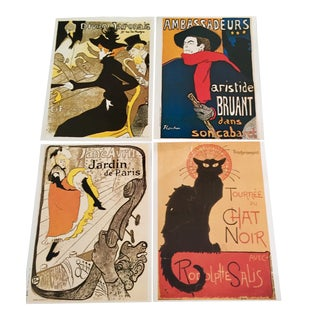Toulouse-Lautrec Print Posters - Set of 4