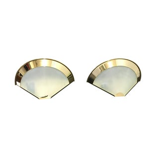 Stilnovo Vintage Gold-Plated Sconces - A Pair