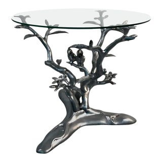 "Giacometti Style ""Parrots Amongst Flowering Tree"" Table"