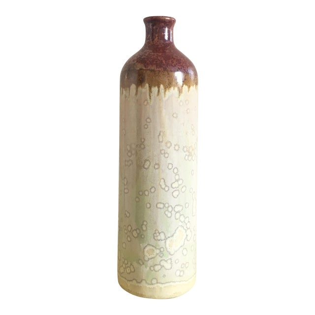 Tall Bohemian Earth Stoneware Vase - Image 1 of 3