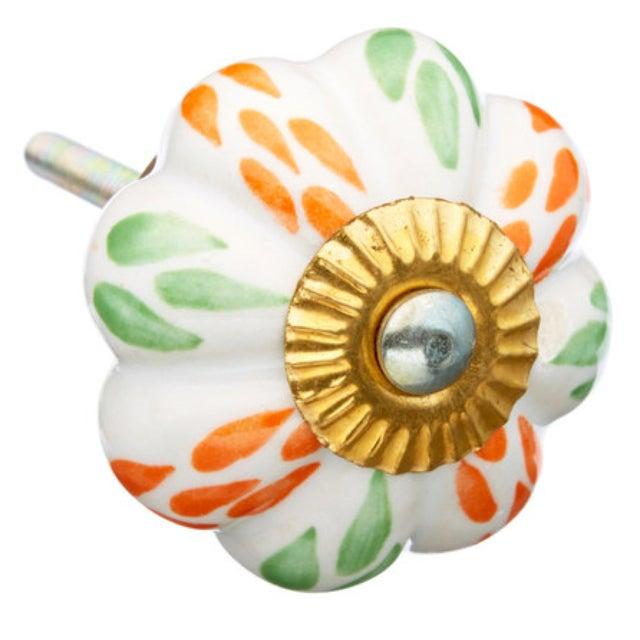 Mixed Leaf Ceramic Knobs- Set of 6 - Image 1 of 3
