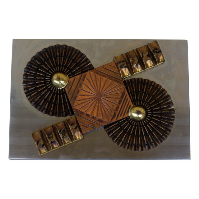 Paul Evans Style Wall Sculpture - Image 1 of 4