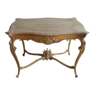 19th Century French Shell Design Table