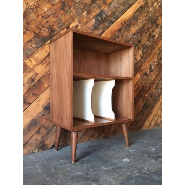 Mid Century Style Mini Credenza Record Stand - Image 4 of 6