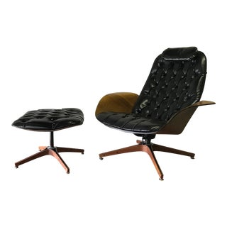 "George Mulhauser for Plycraft Mid Century Modern ""MR. CHAIR"" Lounge Chair & Ottoman"