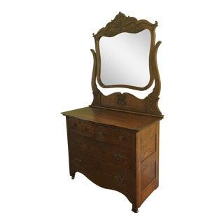 Victorian Beveled Mirror Dresser