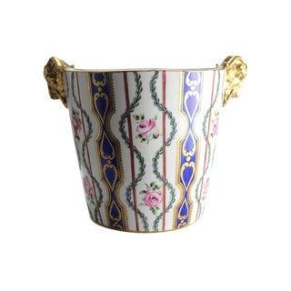 19th Century Sevres Porcelain Hand Painted Jardiniere Cache Pot