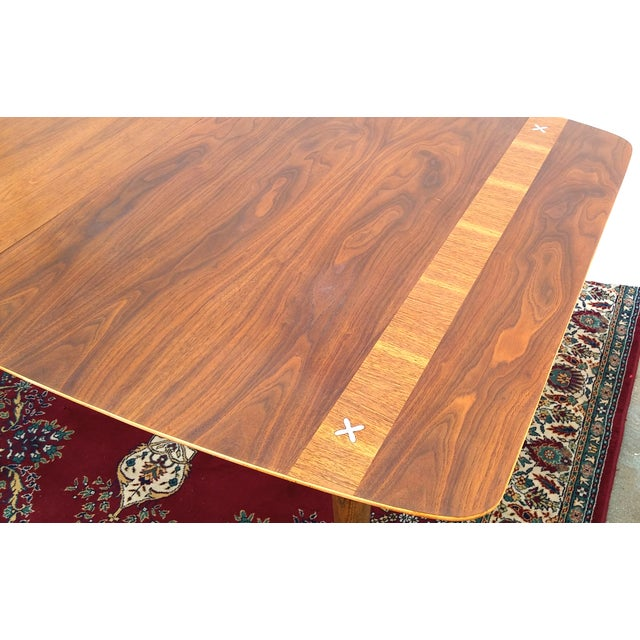 Refinished Vintage Mid Century Modern Dining Table - Image 5 of 7