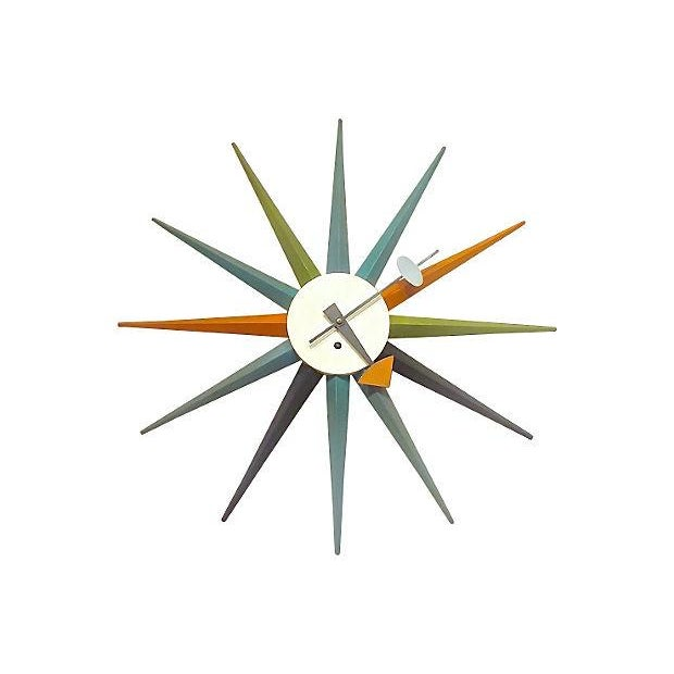 Mcm George Nelson For Howard Miller Wall Clock Chairish