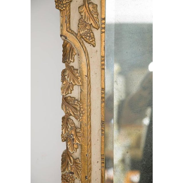 Louis XVI Style Parcel-Gilt and Cream-Painted Wall Mirror - Image 6 of 8