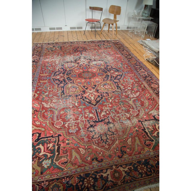 "Distressed Ahar Heriz Carpet - 8'2"" X 11'9"" - Image 4 of 10"