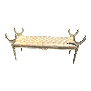 Hollywood Regency Tufted Bench