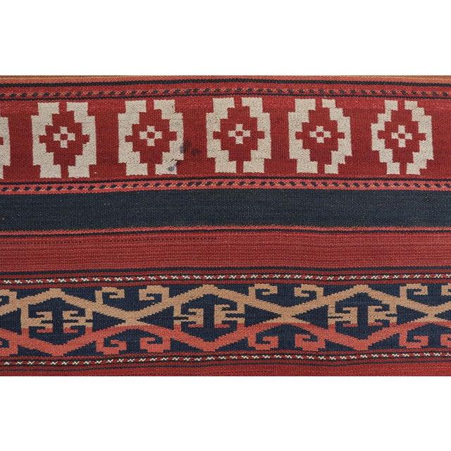 """Image of Afghan Vintage Flat-Weave Rug - 4'7"""" x 9'5"""""""