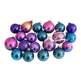 Lavender Hues Christmas Ornaments - Set of 20