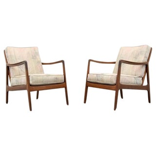 Pair of Lounge Chairs by Ole Wanscher for France & Son, 1960s, Denmark