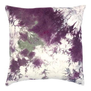 Marbled Design Purple Throw Pillow Cover