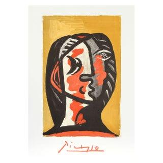 Pablo Picasso - Tete De Femme en Gris Et Rouge Sur
