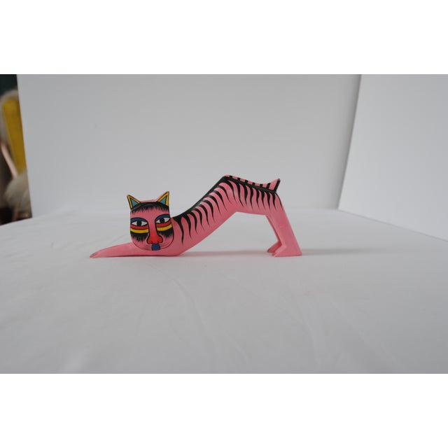 Image of Vintage Oaxacan Style Pink Cat