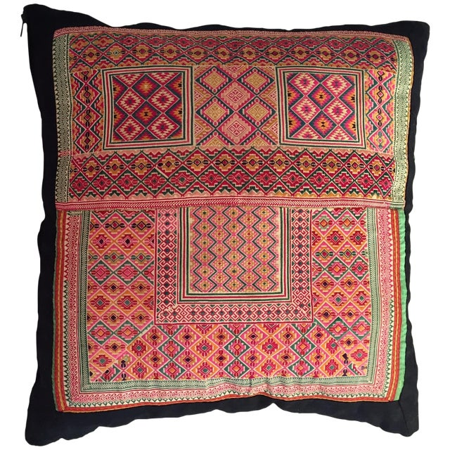 Indian Woven Pillow - Image 1 of 4
