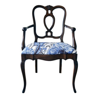 Vintage Arm Chair With Josef Frank Fabric