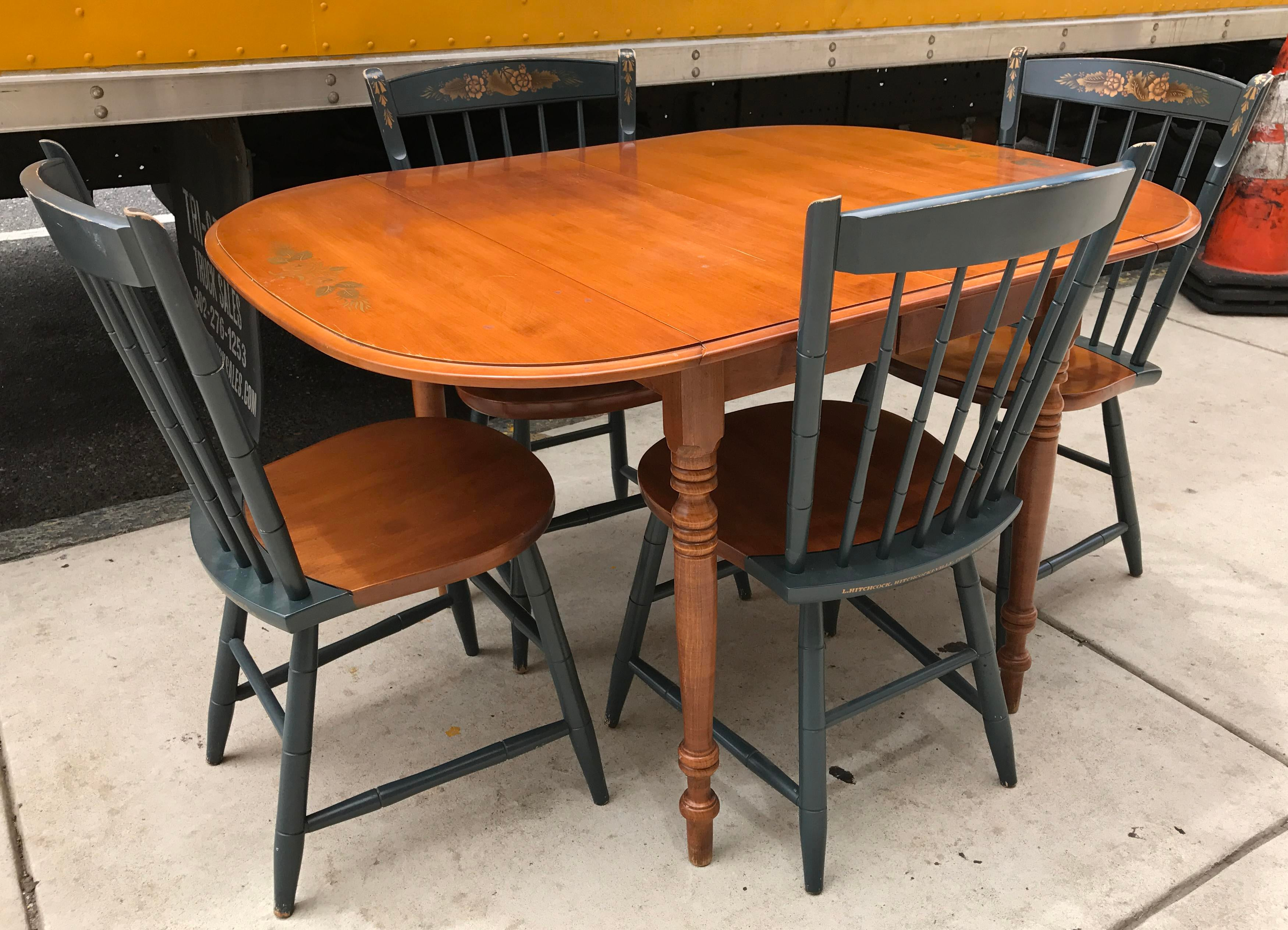 Hitchcock Drop Leaf Table U0026 Chairs   Image 2 Of 11