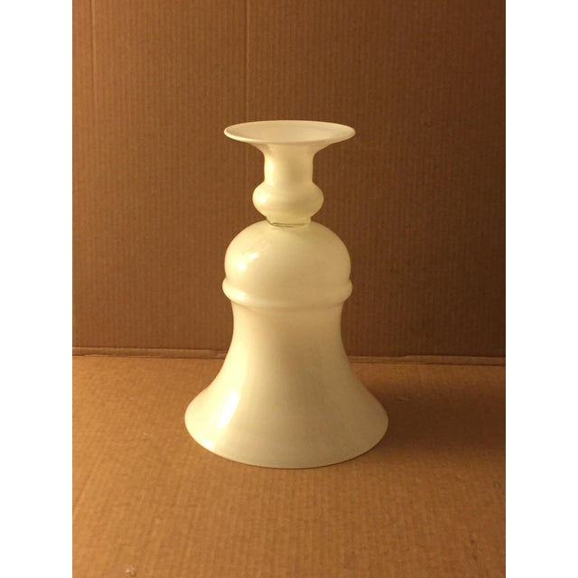 Large White Glass Urn - Image 6 of 8
