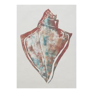 """Seashell"" Monotype Print"
