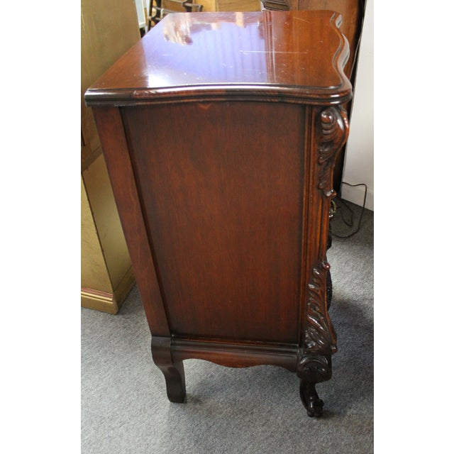 Image of Vintage French-Style Flamed Mahogany Nightstand