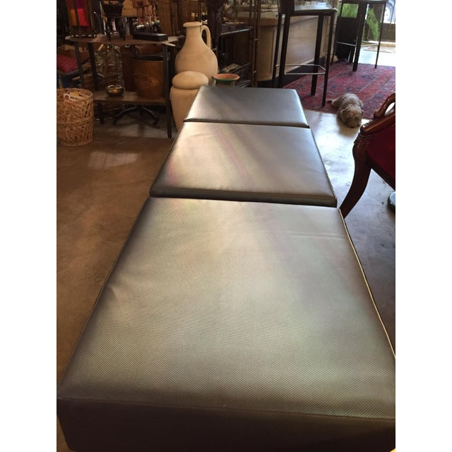 Image of 80s Keilhauer 3 Seat Indsutrial Modern Grey Bench