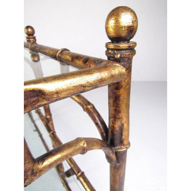 Faux Bamboo Gilt Console Table - Image 7 of 7