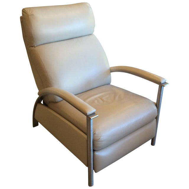 Sleek Leather Recliner Chair - Image 1 of 5
