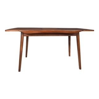 Mid-Century Dutch Butterfly Leaf Teak Dining Table by Luois Van Teeffelen for WéBé