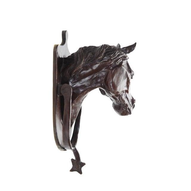 Image of Horse Head Antique Bronze Door Knocker & Spur