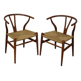 Hans Wegner Carl Hansen Wishbone Chairs - Pair