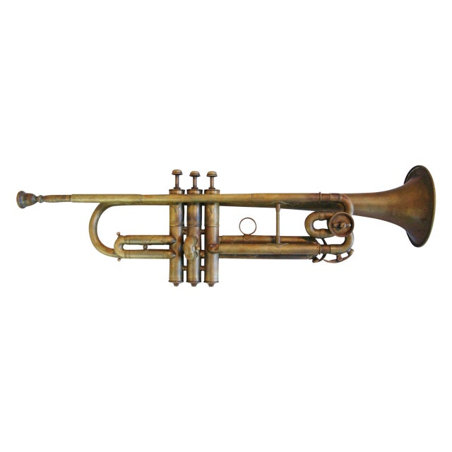 Antique Brass Trumpet Horn - Image 1 of 8