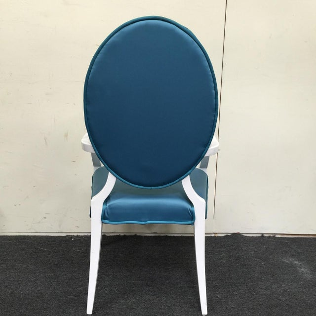 Image of Modrest Versus Emma Fabric Turquoise Chair